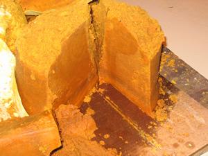 Biodiesel dry cake discharge